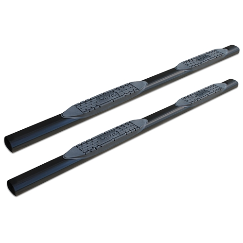 4in Straight Oval Nerf Bars - Black E-Coated