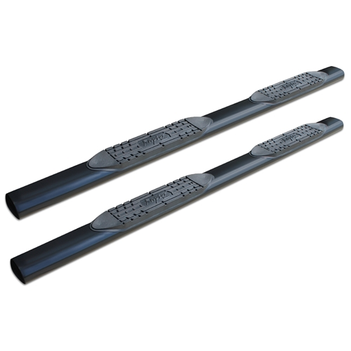 5in Straight Oval Nerf Bars - Black E-Coated