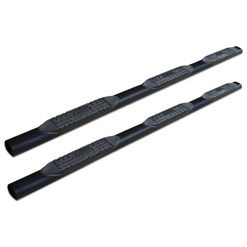 5in Oval Wheel To Wheel Nerf Bars - Black E-Coated