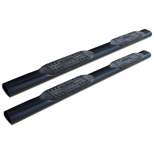 6in Straight Oval Nerf Bars - Black E-Coated