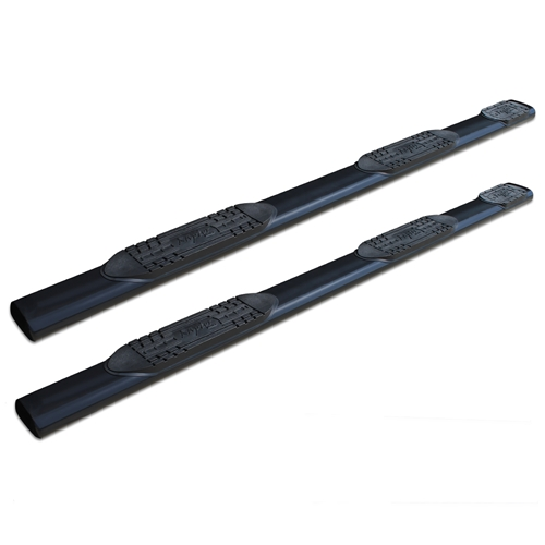 6in Oval Wheel To Wheel Nerf Bars - Black E-Coated