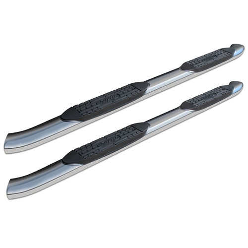 5in Curved OE Style Oval Nerf Bars - Stainless Steel