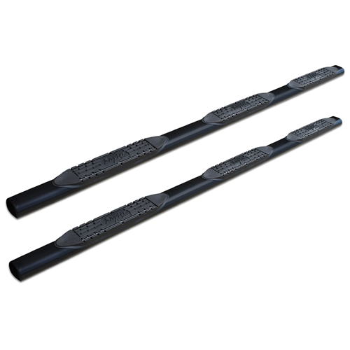 4in Oval Wheel To Wheel Nerf Bars - Black E-Coated