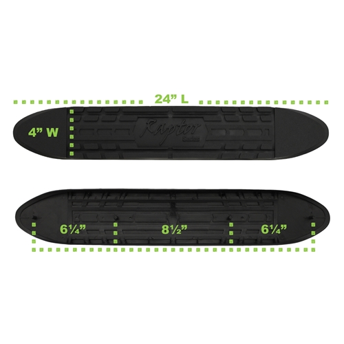 RPSP - STEP-006 - 4in Oval Step Pad (With Raptor logo. Clips Included)